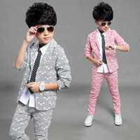 Gentleman costume pour garçon simple boutonnage garçons costumes pour mariages costume enfant garcon mariage garçons jogging garcon bleu gris