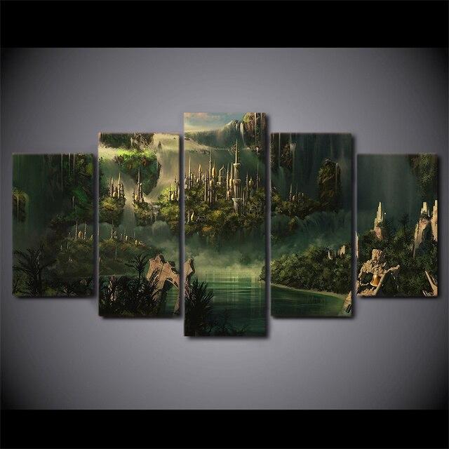 5 Pcs/Set Framed HD Printed Atlantis Wonderland Ancient Country ...
