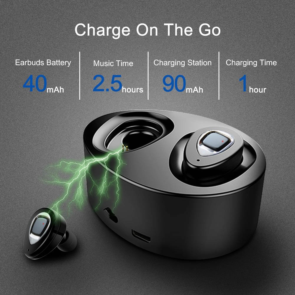 Clearance!!! K2S/K5/K5S TWS Bluetooth Earphone Dual In-ear Wireless Earbuds with Charging Box for Mobile Phones 4