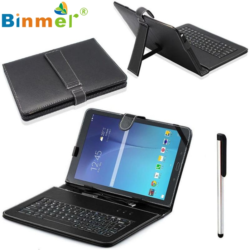 For Samsung Galaxy Tab E T560 9.6 Micro USB Keyboard Stand Case Cover jn14