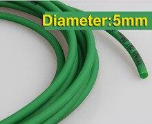 10Meters/Lot Diameter:5mm Green  PU Industrial Round Conveyor Belt 10meters lot diameter 2mm pu industrial round belt drive conveyor belt
