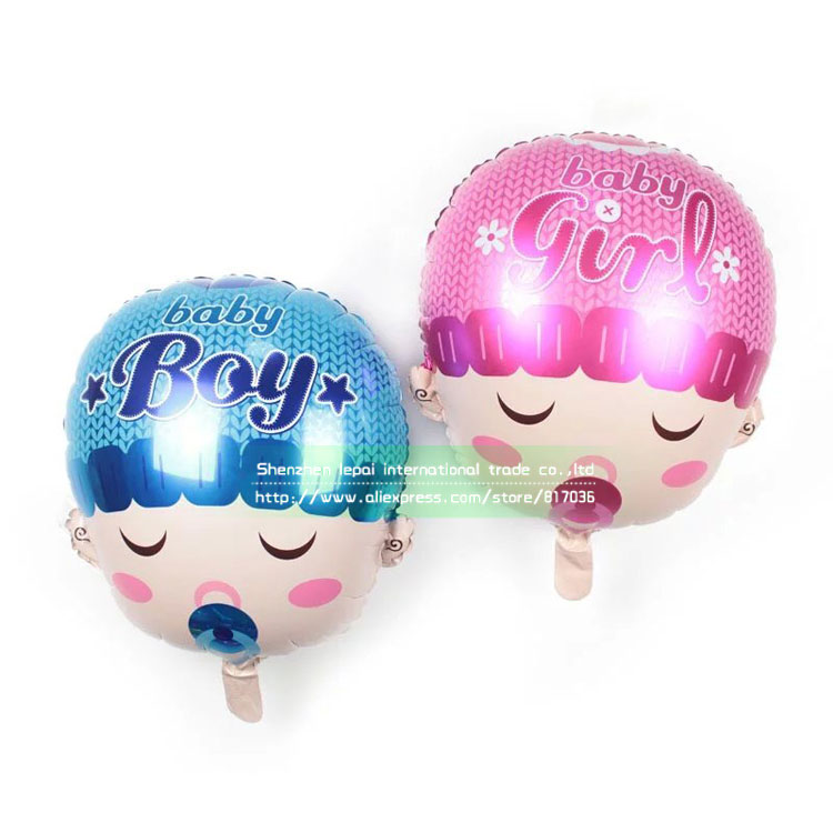 50pcs lot cute baby shower balloons happy birthday baby for Balloon decoration for baby girl