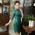 2016 spring vintage cheongsam chinese dress traditional chinese style oriental dresses lace evening dress wedding qipao