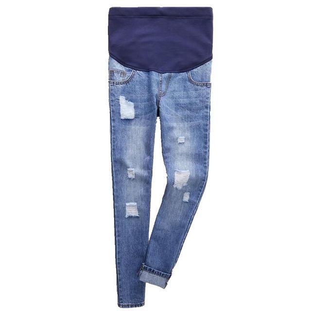 Maternity Jeans Fashion Plus Size Hole Denim Cotton Trousers Pregnant Women Clothing Pregnancy clothes High Waist Pants
