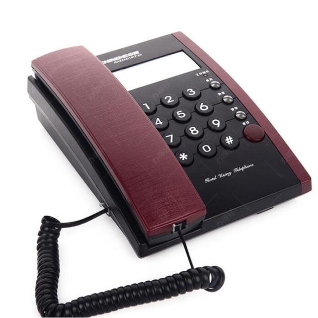 Мода Проводной Телефон Шнуровой телефон Стационарный Настольный Телефон С Памятью Для Hotel Мотель Главная Бизнес Телефоны
