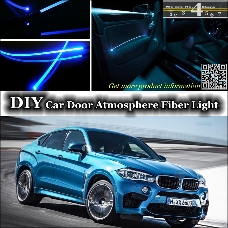 19 9 13 De Reduction Pour Bmw X6 X6 M Puissance Interieur Lumiere Ambiante Tuning Atmosphere Fiber Optique Bande Lumieres Porte Panneau