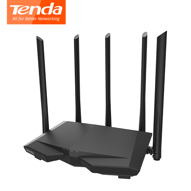 Tenda AC7 wireless wifi Routers 5*6dbi high gain Antennas 11AC 2.4Ghz/5.0Ghz Wi-fi Repeater 1*WAN+3*LAN Smart APP Manage new comfast cf wr750acv2 wireless wifi repeater 750mbps routers dual band 5ghz 802 11ac wi fi roteador extender wifi amplifier
