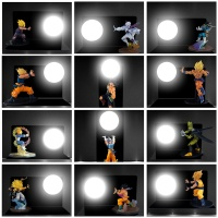 Night Lights Dragon Ball Son Goku Vegeta Figure LED Nightlight Strength Bombs Table Lamp Luminaria Room Decorative Lighting