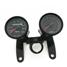 バイクオドスピードメータータコメーターゲージ 12 V 0 毎時 180 キロとクロームメッキ筐体 LED バックライト、信号光
