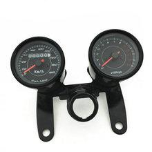 Motorrad Kilometer Motorrad Tachometer Tachometer Gauge 12 V 0 180 km/h Mit Chrom Überzug Gehäuse Led hintergrundbeleuchtung Signal Licht