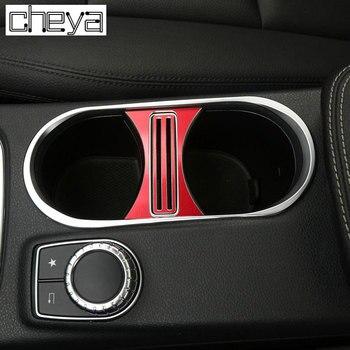 Для Mercedes Benz CLA 200 260 GLA класс аксессуары для стайлинга автомобилей алюминиевый сплав подстаканник крышка рамка отделка наклейки новый >> Automobile decorative accessories store