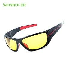NEWBOLER Polarized Fishing Eyewear Glasses For Angler Night Vision Black Frame Yellow Lenses Sunglasses