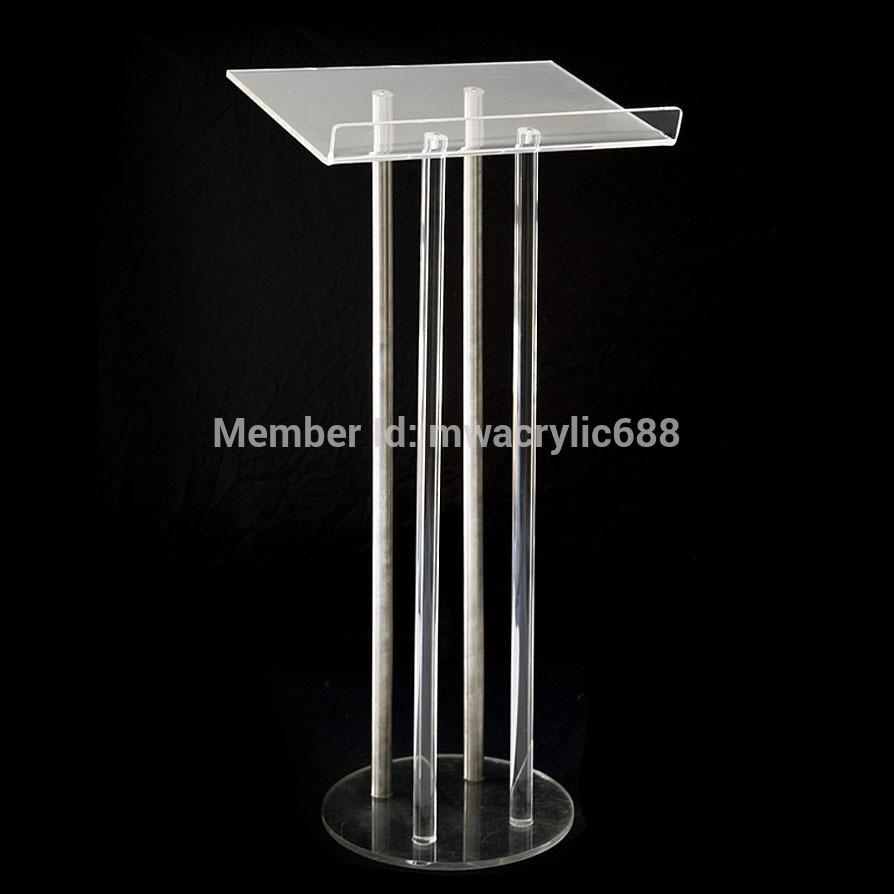 Free Shipping Price Reasonable CleanAcrylic Podium Pulpit Lectern Podium