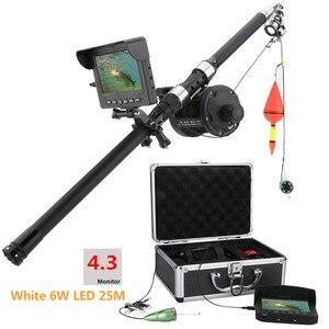 GAMWATER, 15 м, 25 м, HD, 1000TVL, подводная ледяная рыболовная камера, морское колесо, видео, рыболокатор, 4,3 дюйма, ЖК-дисплей, 6 Вт, Белый светодиодный, уг...