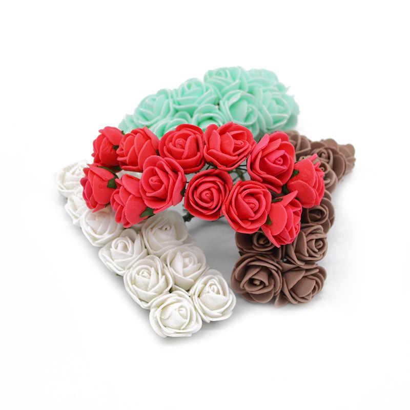 36/72/144 Buah 2 Cm Dekoratif Teddy Bear Rose PE Busa Buatan Bunga Bouquet untuk Rumah Pernikahan dekorasi DIY Wreath Bunga Palsu