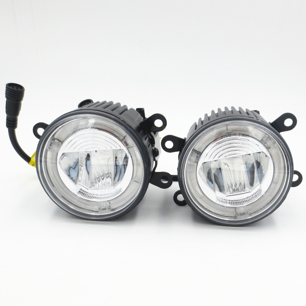CYAN SOIL BAY Auto Led Fog Lamp super bright daytime running light led fog light DRL for Subaru WRX/STi STI/BRZ/Legacy Universal cyan soil bay 2pcs white 12 4014 smd led eagle eye motorcycle car parking fog backup light drl lamp 23mm
