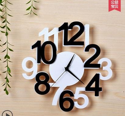 Quartz Clock Mute Individuality Creative Modern Fashionable Sitting Room The Bedroom Wall