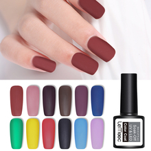 LEMOOC 8ml Matte Color UV Gel Nail Polish Soak Off Nail Art Gel Varnish Manicure Vernis Semi Permanent Nail Gel UV Polish