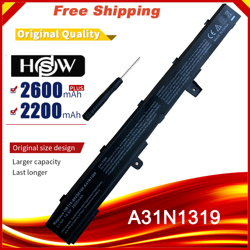 A31N1319 Battery For Asus X551 X551C X551CA X551M X551MA X551MAV-RCLN06