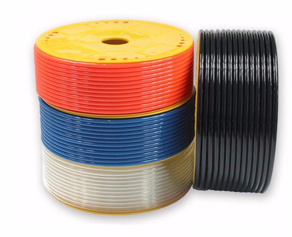 4mm(ID)x6mm(OD) PU Pneumatic Tube Pipe 4x6mm Pneumatic Hose Tubing Different Colors 5m 10m 25m long 6mm od x 4mm id bule color 25m 82 02ft pu air tube pipe hose pneumatic hose brand new