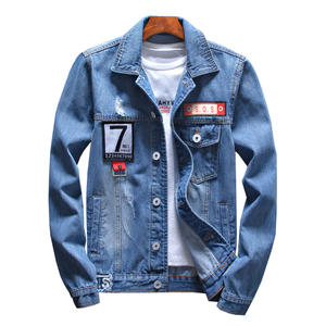 weibolaishen Denim Jacket Bomber Jeans Jackets men Casual