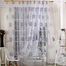 Room Floral Tulle Decal Decor Window Curtain Drape Panel Decal Scarf Valance Curtains