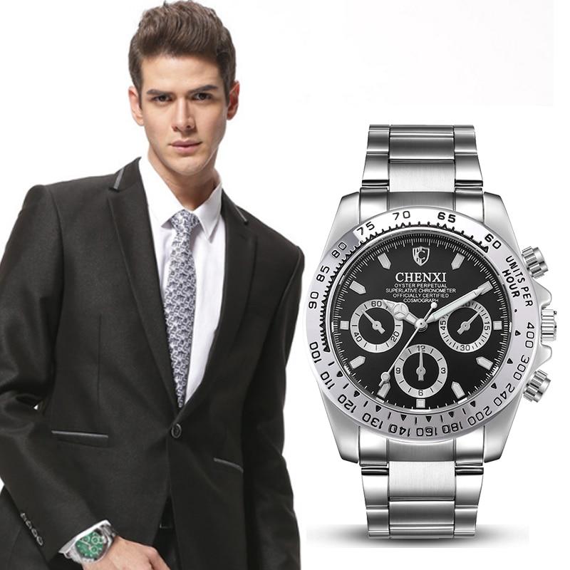 CHENXI Marque De Luxe Hommes Quartz Montre De Mode Or Horloge Sport Mâle Rôle Montres Étanche Relogio Masculino Relojes Hombre 2018