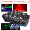 Sharpie Beam Light LED Movinghead Light 8pcsx10W RGBW 4in1 Color Led Spider Professional Stage DJ Disco