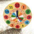 New Arrival Baby Toys Multicolor Clock Infant Educational Wooden Toys Figure Block Bracket Clocks Child Learning Birthday Gift