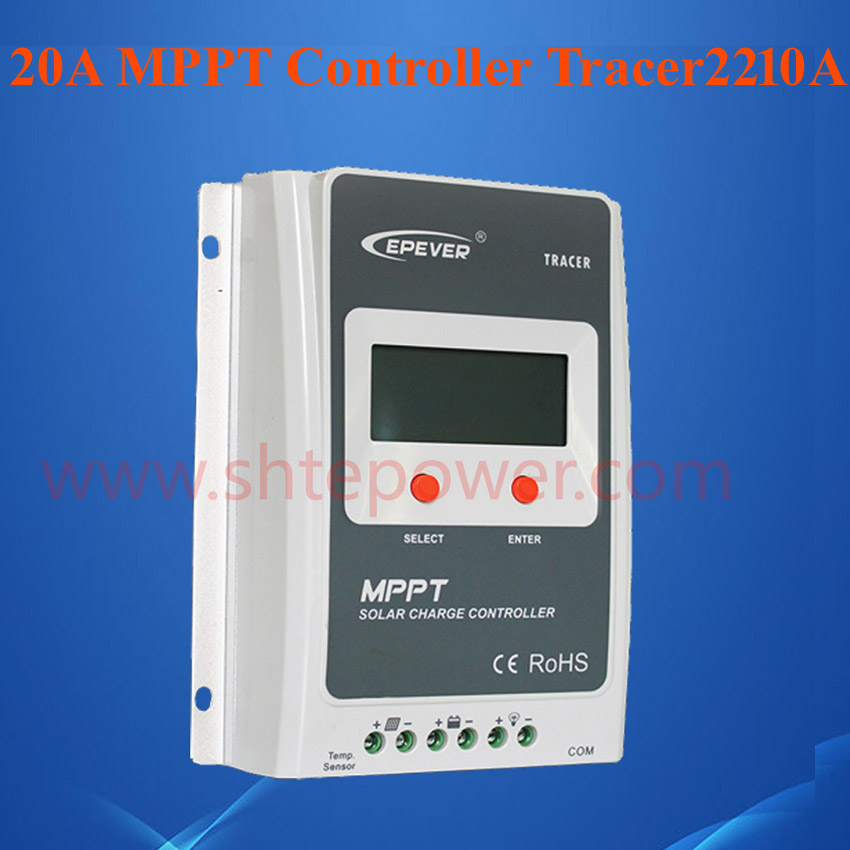 EPEVER 12v 24v 20a mppt solar controller with lcd display 100v tracer 2210A auto work dmx512 digital display 24ch dmx address controller dc5v 24v each ch max 3a 8 groups rgb controller