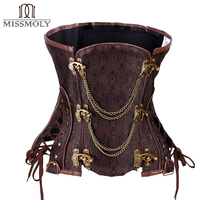 Women Corset Underbust Steampunk Corselet Gothic Waist Trainer Cincher Slimming Body Shaper Corsets and bustiers S 2XL #0014