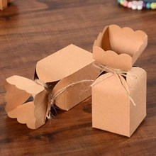DIY new Arrival  Flower Shape Candy Packaging Gift Box 1LOT:30PCS BOX +30strings Vintiage Cake Wedding Favour