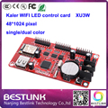 Xu3w калер привело контроллер карты 48*1024 пикселей одного цвета led управления для p10 светодиодная вывеска сообщение перемещение знака billboard