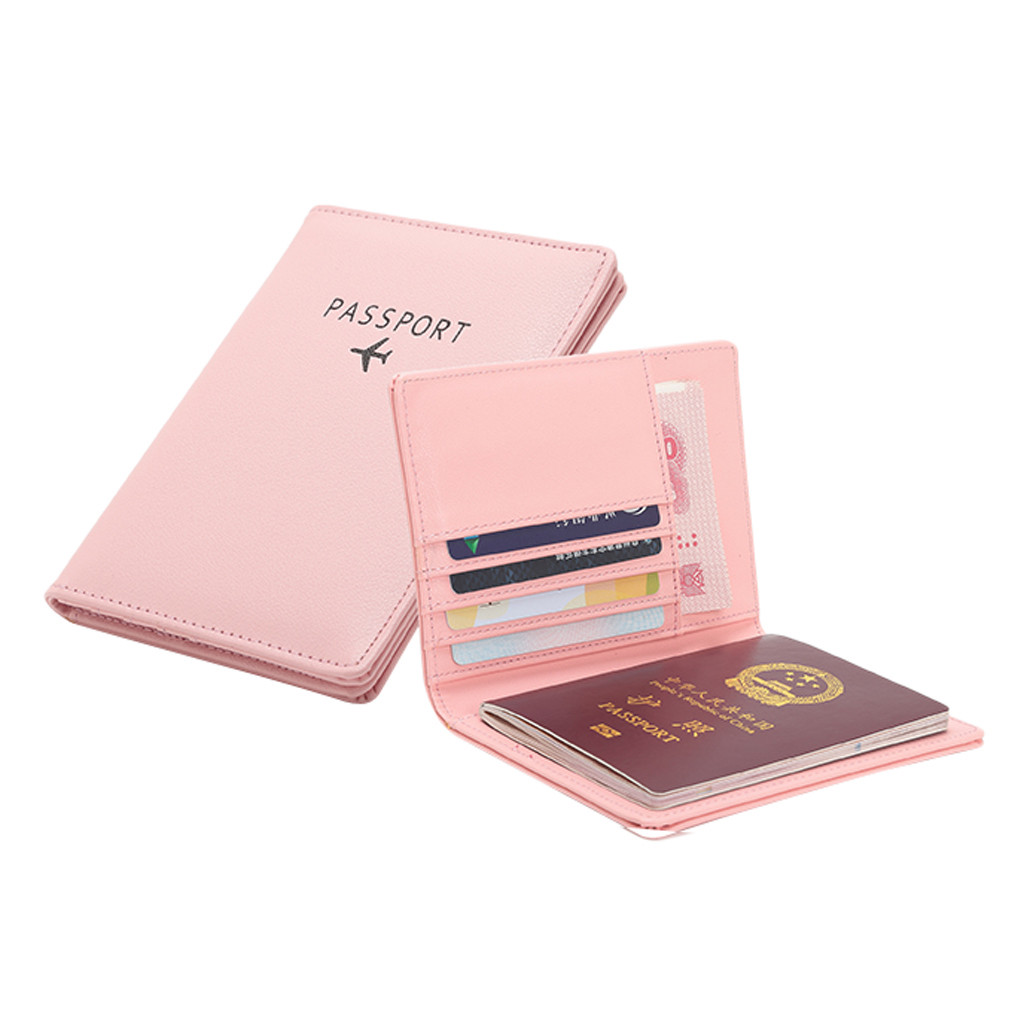 Mini Neutral Multi-purpose Travel Passport Wallet Tri-fold Document Organizer Holder Coin Purse Women Coin Purse Leather #GEX
