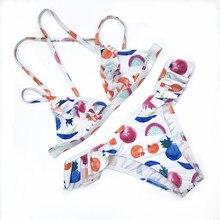 Купить с кэшбэком Swimwear Women Sexy Push Up Bikini 2019 Hot Sale Beach Padded Straps Ruffle Thong Swimsuit Female Brazilian Biquini Bandage