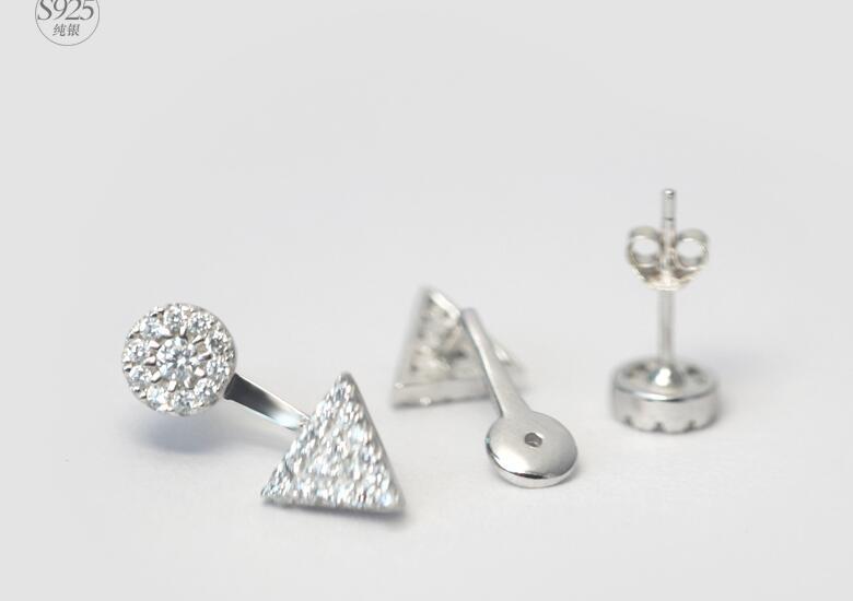 925 ασημένια σκουλαρίκια Λευκό CZ - Κοσμήματα - Φωτογραφία 4