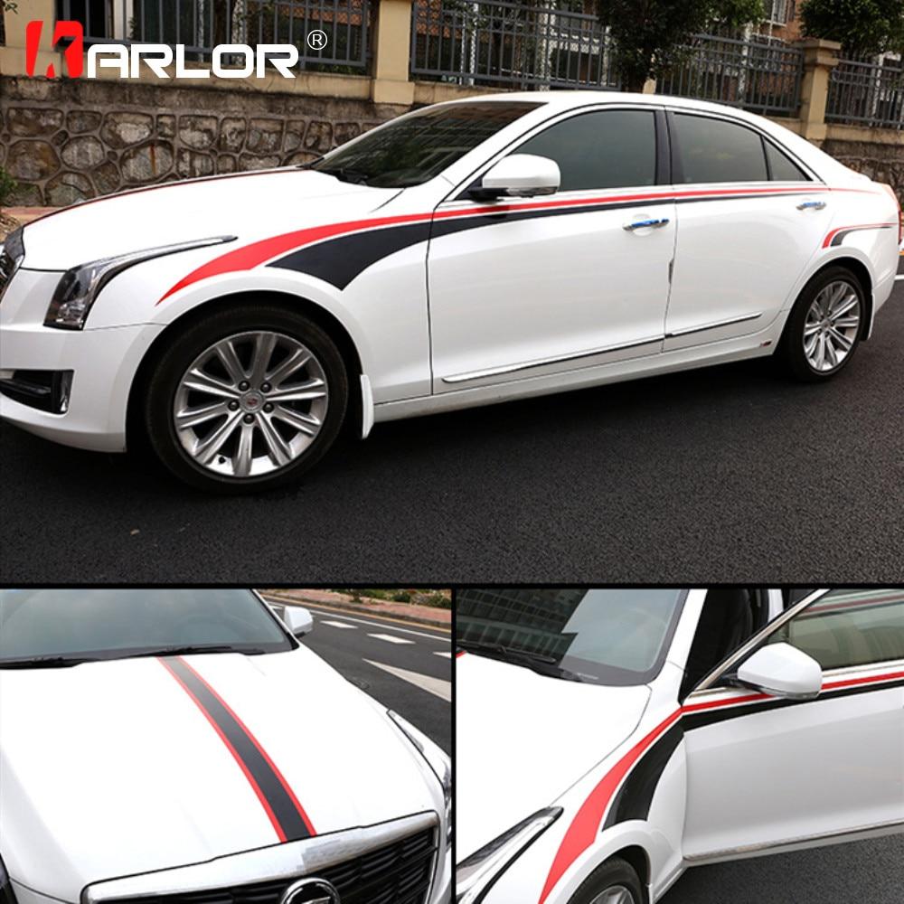 14 Cadillac Ats: For Cadillac ATS XTS ATSL Car Body Waist Hood Car Stickers Vinyl Film Personality Decals