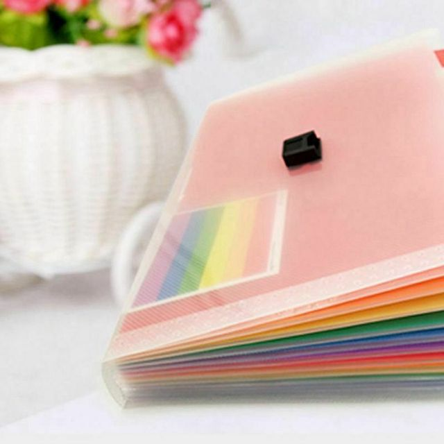 2 Styles A6 Plastic 13 Pockets Expanding File Folder Office Organizer Document Holder File Case Document Box Stationery Boxes 4