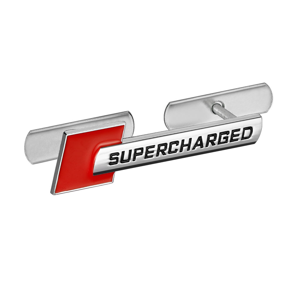1Pcs 3D Metal Supercharged Car Front Hood <font><b>Grille</b></font> Emblem Badge For <font><b>Audi</b></font> <font><b>A4</b></font> B6 <font><b>B7</b></font> B8 A5 A3 A6 C5 C6 Q5 Automobiles Car Accessories image