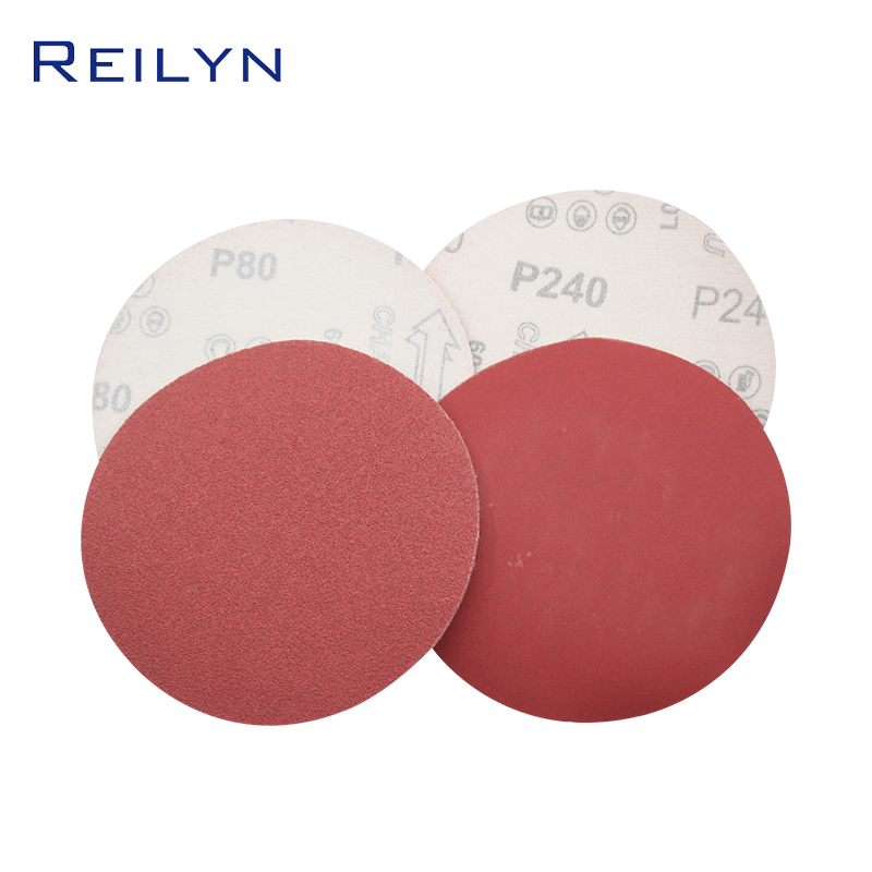 10 Sheet 5 Inch Flocking Sandpaper Pink Polishing Peeling Sandpaper High Quality Good Wear Resistance Sand Disc Sanding Machine