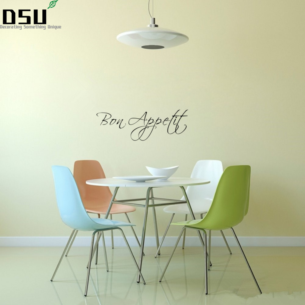 Us 1 91 39 Off French Word Bon E Kitchen Vinyl Wall Sticker Dining Room Living Bedroom Removable Decor Home Wallpaper In Wallpapers