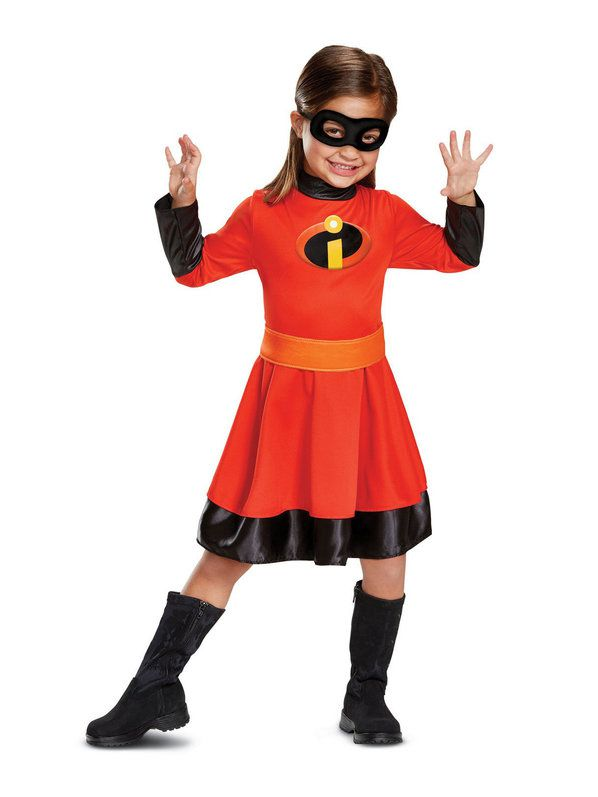 Dexule superpowers girls Incredibles 2 Classic Child Violet Costume childs halloween Mr. Incredible, Elastigirl costume