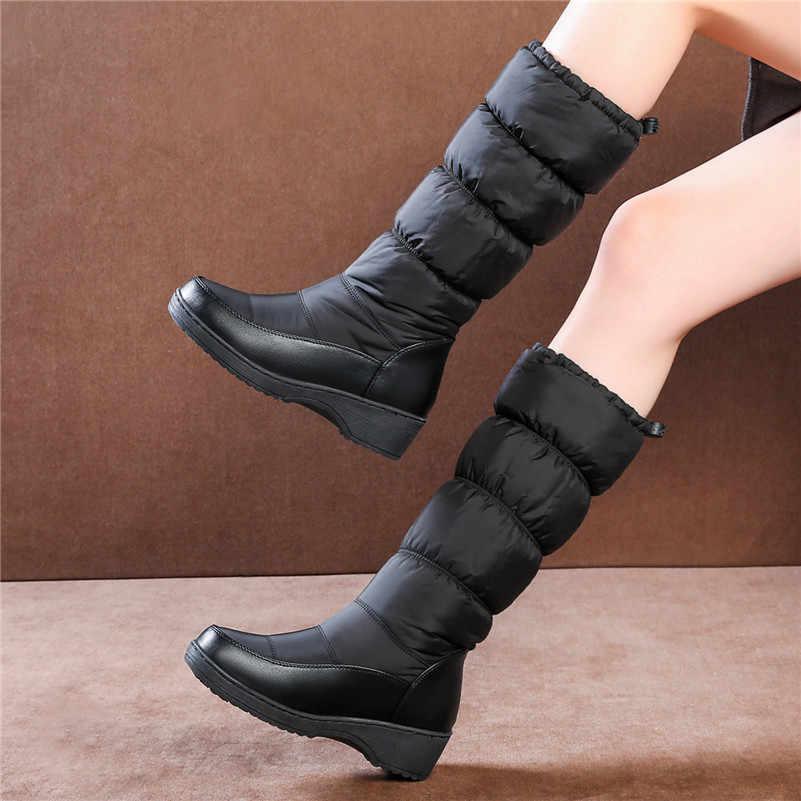 FEDONAS 2020 Kış Yeni Moda Inek Rugan Kadın Uzun Çizmeler Fermuar Kadın Diz Yüksek Çizmeler Yüksek Topuklu parti ayakkabıları Kadın