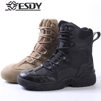 New2017 Outdoor ESDY U.S. military Boots Desert Combat Sneaker men's special high permeability shock boots tactical Hiking Shoes