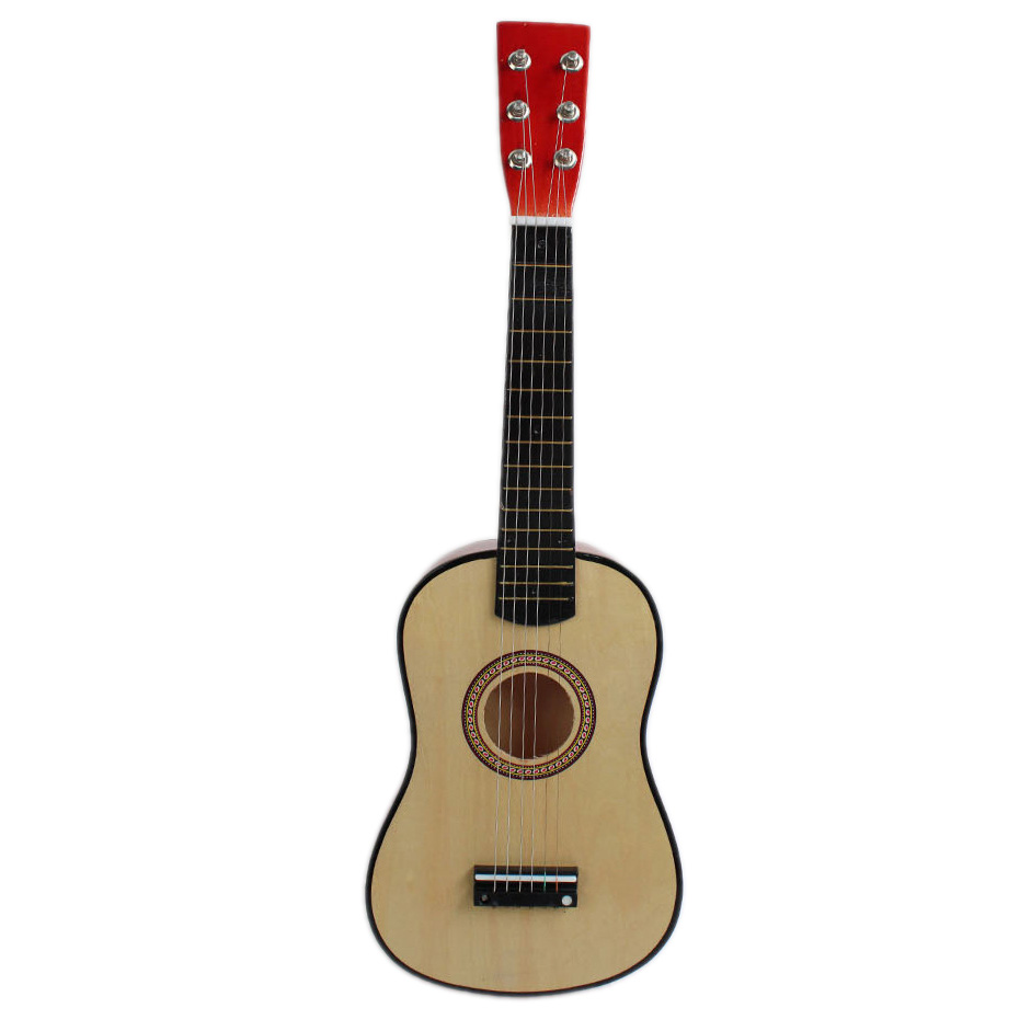 natural color 23 Guitar Mini Guitar Basswood Kid's Musical Toy Acoustic Stringed Instrument with Plectrum 1st String mini handheld 17 6 string electric guitar toy random color 2 aa