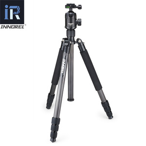 Image 2 - RT70C Fibra De Carbono tripé monopé para dslr camera digital lente telefoto profissional heavy duty stand tripode Max Altura 175 centímetros