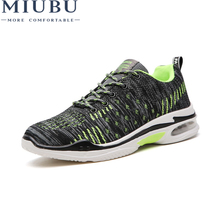 MIUBU Summer Men Sneakers Fashion Breathable Casual Shoes Lace Up Trainers Male Anti Slip Shoes Zapatillas Deportivas Hombre men basketball shoes zapatillas deportivas hombre male anti slip ankle boots outdoor wear resisting sport sneakers bs1026a
