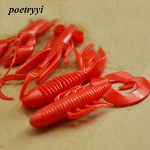 POETRYYI  new alligator crayfish ghost shrimp soft and resilient fishing lures silicone baits iscas artificiais para pesca