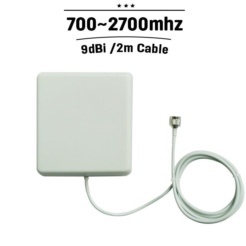 700 mhz-2700 mhz Indoor Panel Antenna GSM 3G 4G N Connettore 9dBi Antena Interno Con 2 m Cavo Per Il Telefono Mobile Signal Booster