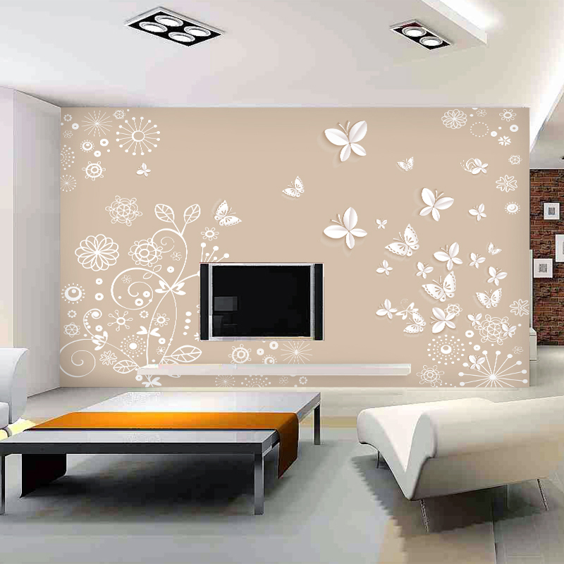 Mural wallpaper brief tv background wall 3d wallpaper for Wallpaper home improvement questions